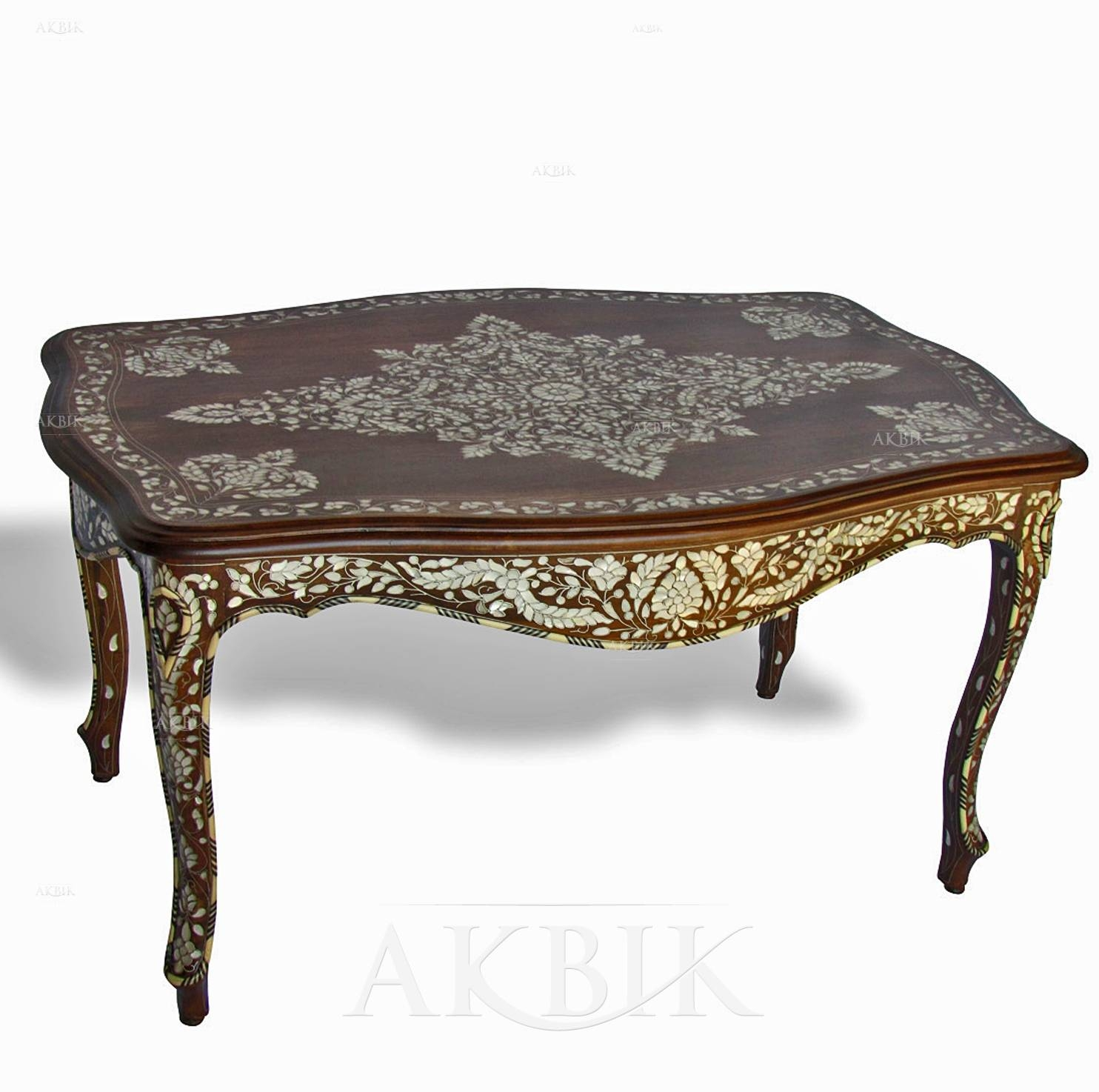 Mediterranean, Levantine & Syrian Furniture Inlaid With Mother Of inside Mother of Pearl Coffee Tables (Image 18 of 30)