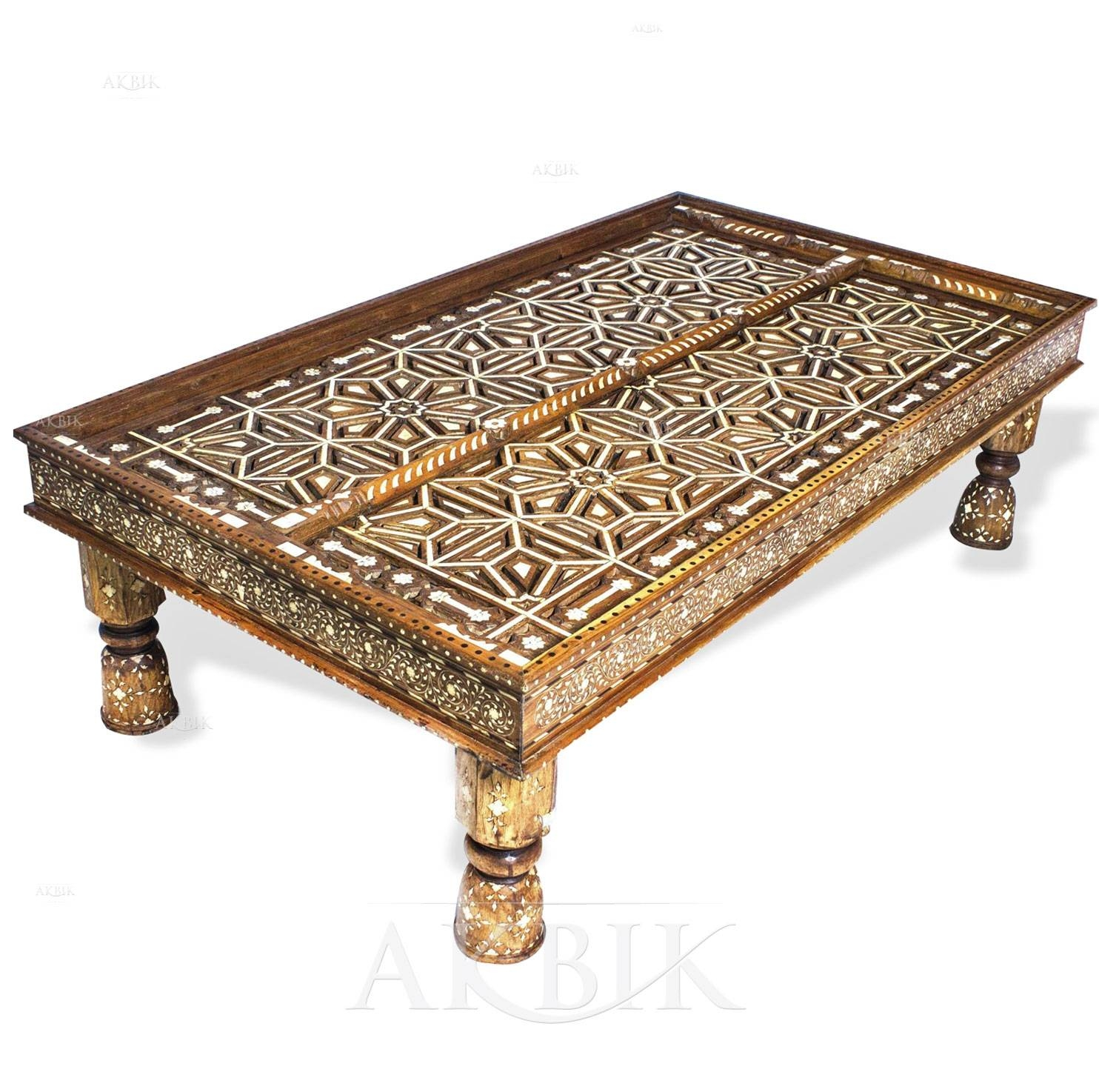 Mediterranean, Levantine & Syrian Furniture Inlaid With Mother Of pertaining to Mother Of Pearl Coffee Tables (Image 19 of 30)