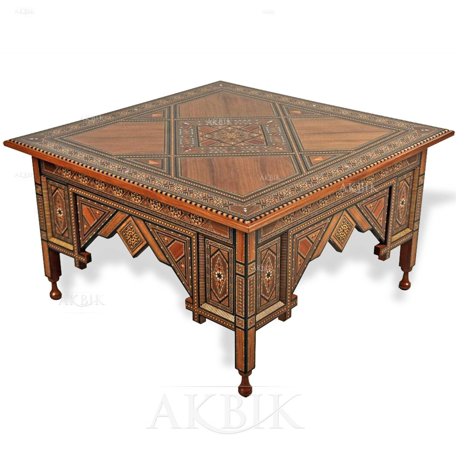 Mediterranean, Levantine & Syrian Furniture Inlaid With Mother Of throughout Mother Of Pearl Coffee Tables (Image 21 of 30)