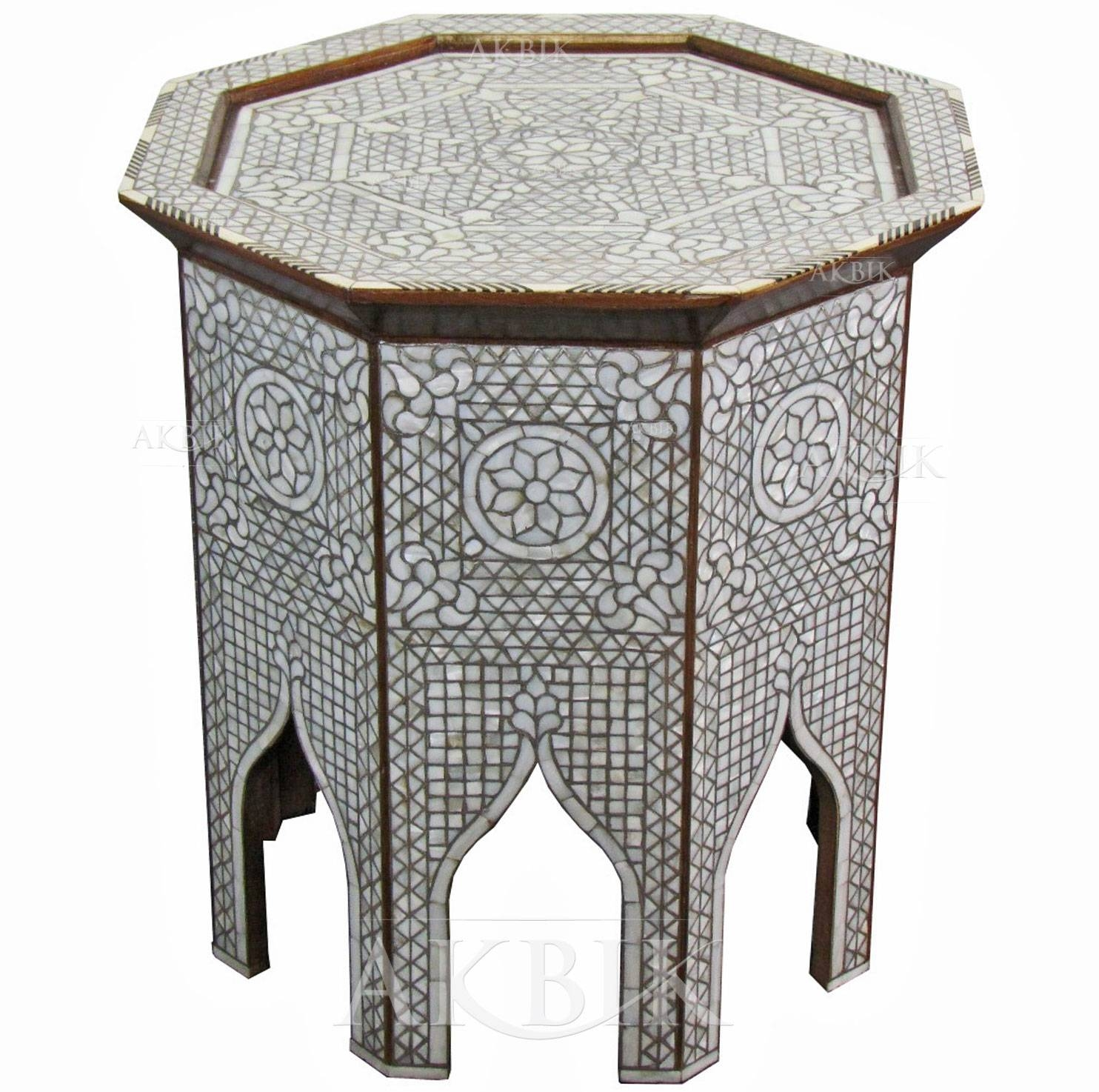 Mediterranean, Levantine & Syrian Furniture Inlaid With Mother Of throughout Mother Of Pearl Coffee Tables (Image 20 of 30)