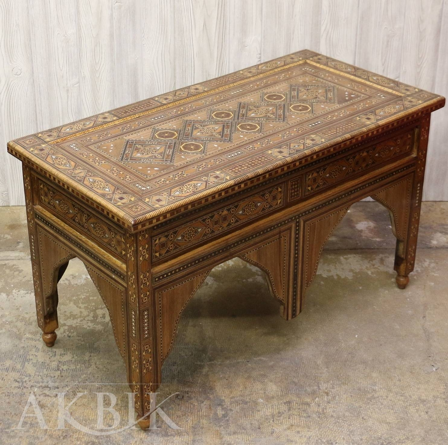 Mediterranean, Levantine & Syrian Furniture Inlaid With Mother Of with Mother of Pearl Coffee Tables (Image 22 of 30)