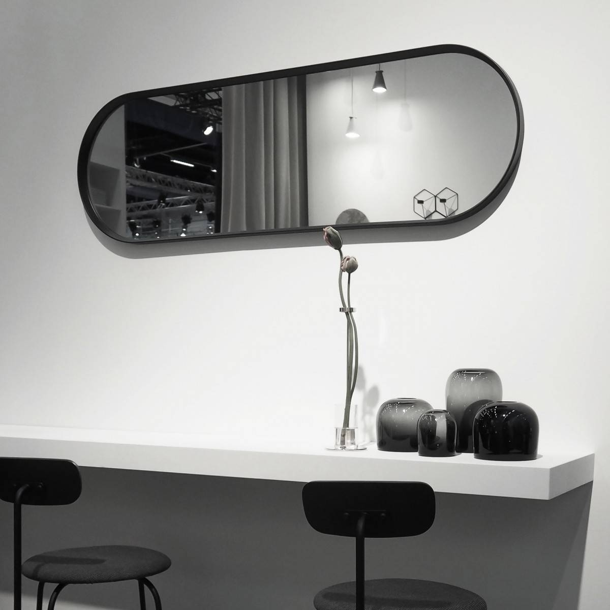 Menu Norm Wall Mirror Oval Black within Black Oval Wall Mirrors (Image 7 of 25)