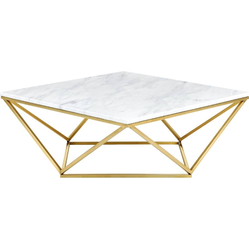 Meridian Furniture 216 C Mason Gold Geometric Coffee Table W With C Coffee Tables (View 20 of 30)