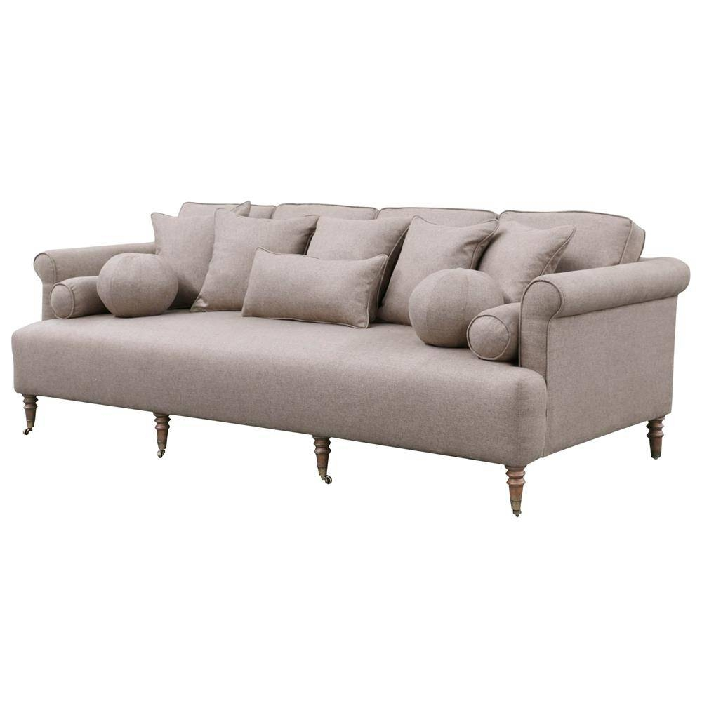 Merrimac Modern Classic English Rolled Arm Light Tan Sofa | Kathy For Classic English Sofas (View 24 of 30)