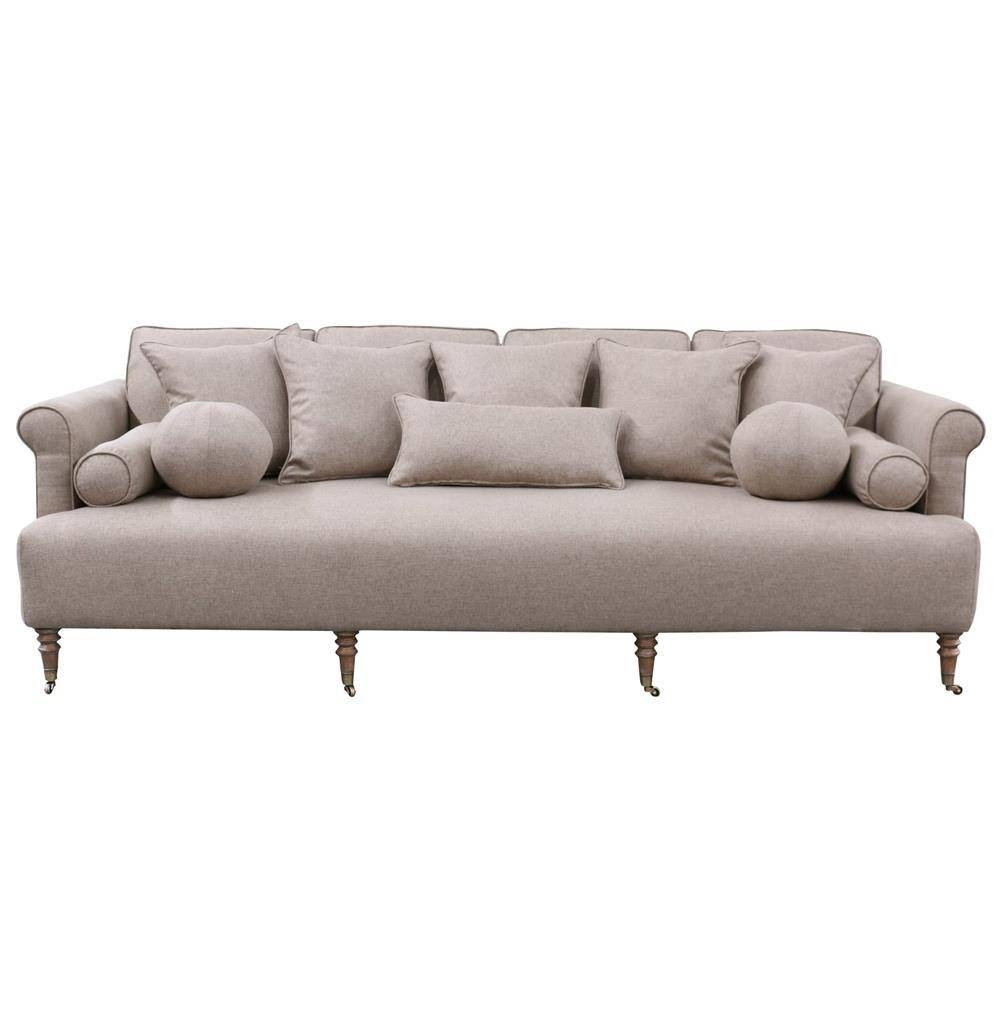 Merrimac Modern Classic English Rolled Arm Light Tan Sofa | Kathy With Regard To Classic English Sofas (View 25 of 30)