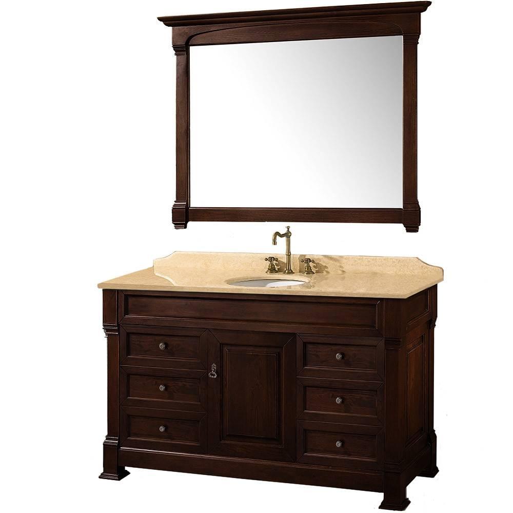 Mesmerizing Decorating Ideas Using Rectangular Black Wooden Vanity throughout Silver Rectangular Mirrors (Image 14 of 25)