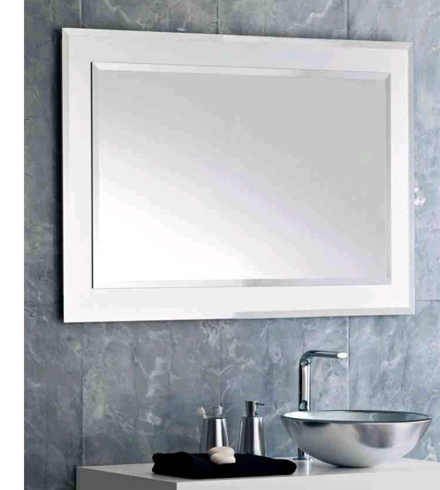 Mesmerizing Decorating Ideas With Bathroom Mirror Trim – Vintage within Silver Rectangular Bathroom Mirrors (Image 9 of 25)
