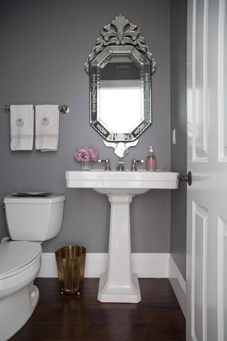 Mesmerizing Design Ideas Using Round Silver Mirrors And Silver regarding Venetian Bathroom Mirrors (Image 20 of 25)