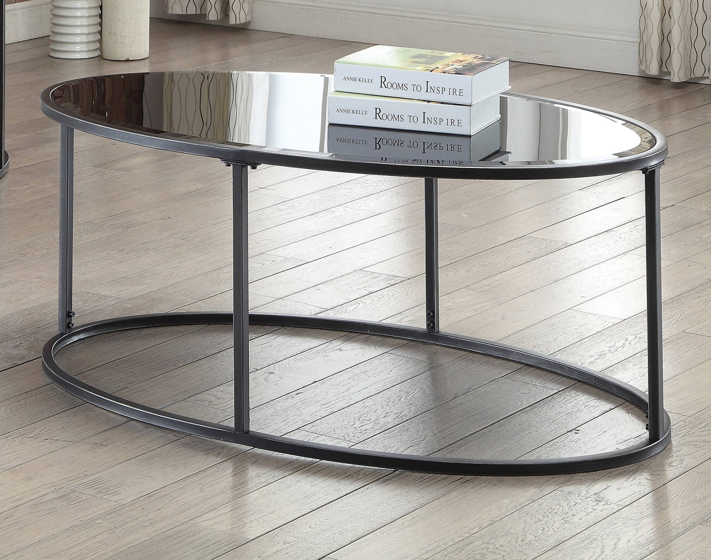 Metal And Glass Sofa Table Contemporary Style Gunmetal Finish in Metal Glass Sofa Tables (Image 20 of 30)