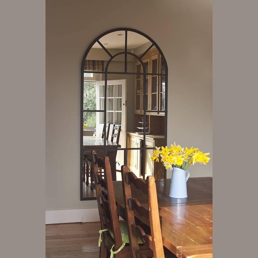 Metal Arch Mirrordecorative Mirrors Online with regard to Window Arch Mirrors (Image 16 of 25)