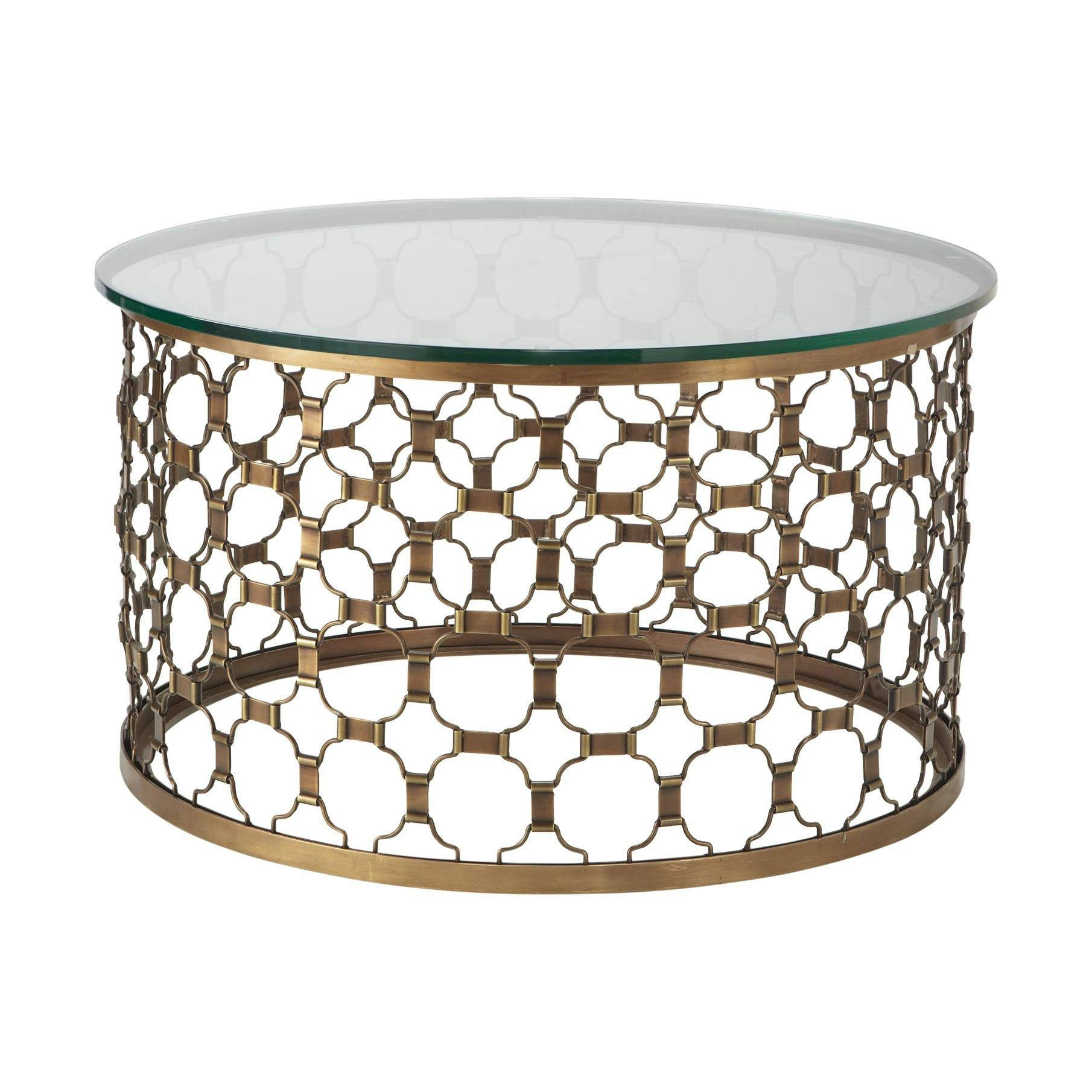 Metal Coffee Table With Glass Top – Safeti for Round Steel Coffee Tables (Image 15 of 30)