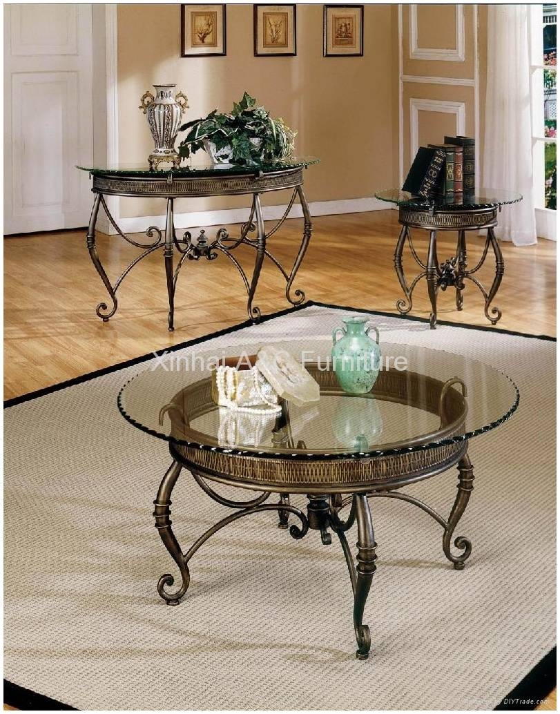 Metal Coffee Table With Glass Top – Safeti With Steel And Glass Coffee Tables (View 17 of 30)