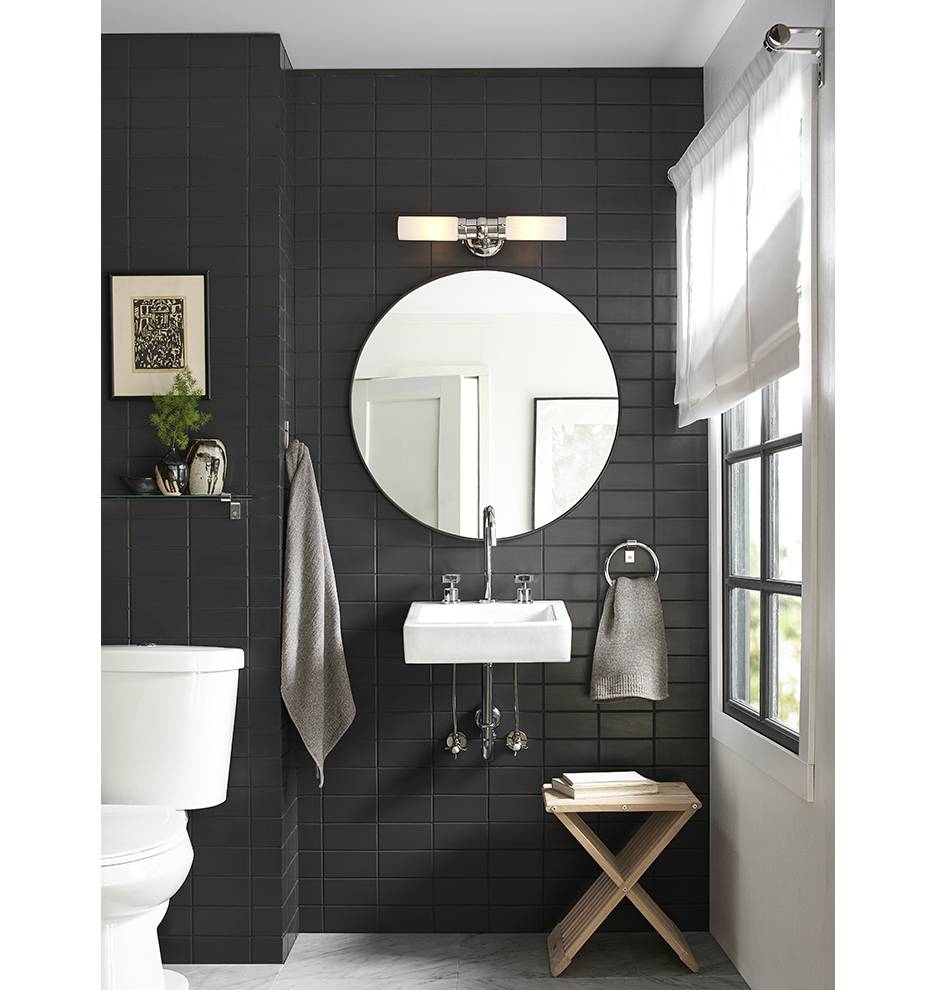 Metal Framed Mirror - Round | Rejuvenation in Black Round Mirrors (Image 17 of 25)