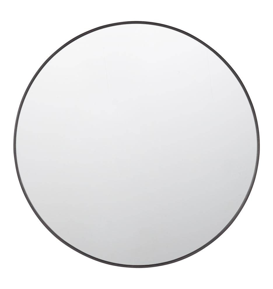Metal Framed Mirror - Round | Rejuvenation in Round Black Mirrors (Image 14 of 25)