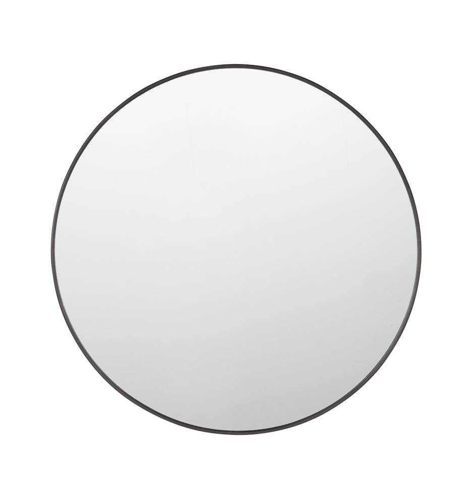 Metal Framed Mirror - Round | Rejuvenation regarding Black Round Mirrors (Image 19 of 25)
