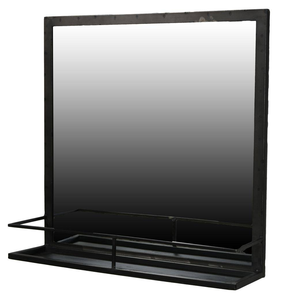 Metal Framed Mirrors.. Metal Framed Floor Mirror. Window Frame inside Iron Framed Mirrors (Image 19 of 25)