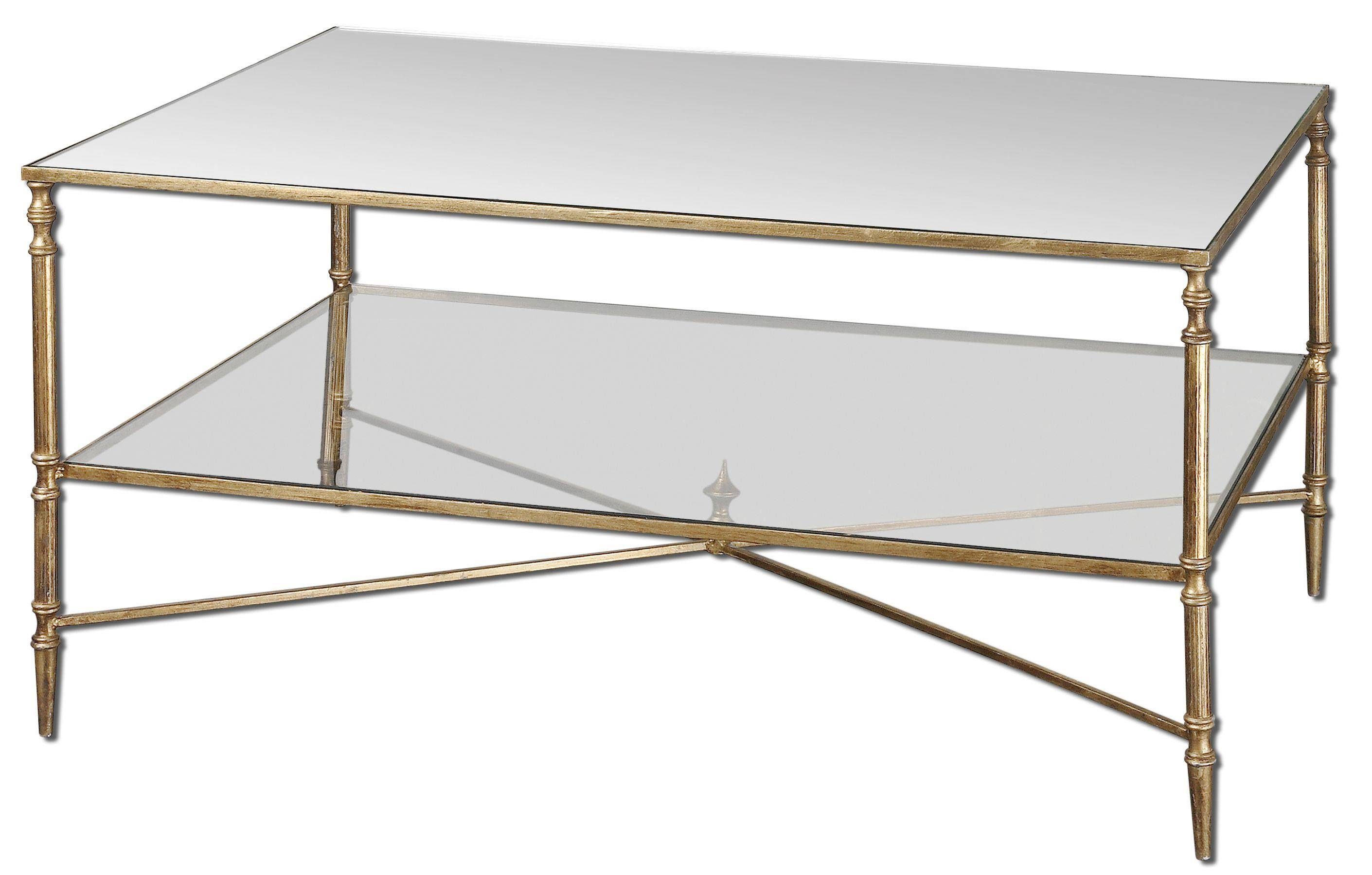 Metal Glass Coffee Table – Gold Metal Glass Top Coffee Table with regard to Metal Glass Coffee Tables (Image 27 of 30)
