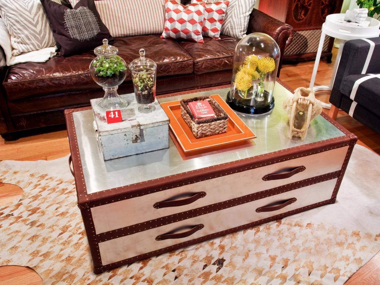 Metal Trunk Coffee Table | Idi Design with Steamer Trunk Stainless Steel Coffee Tables (Image 16 of 30)