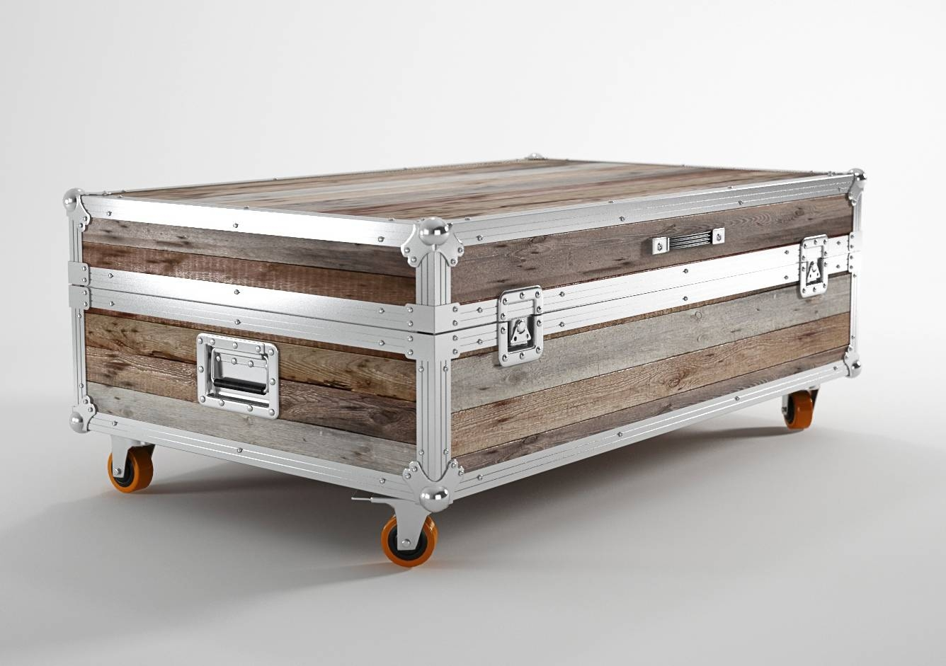 Metal Trunk Coffee Table | Idi Design within Stainless Steel Trunk Coffee Tables (Image 13 of 30)