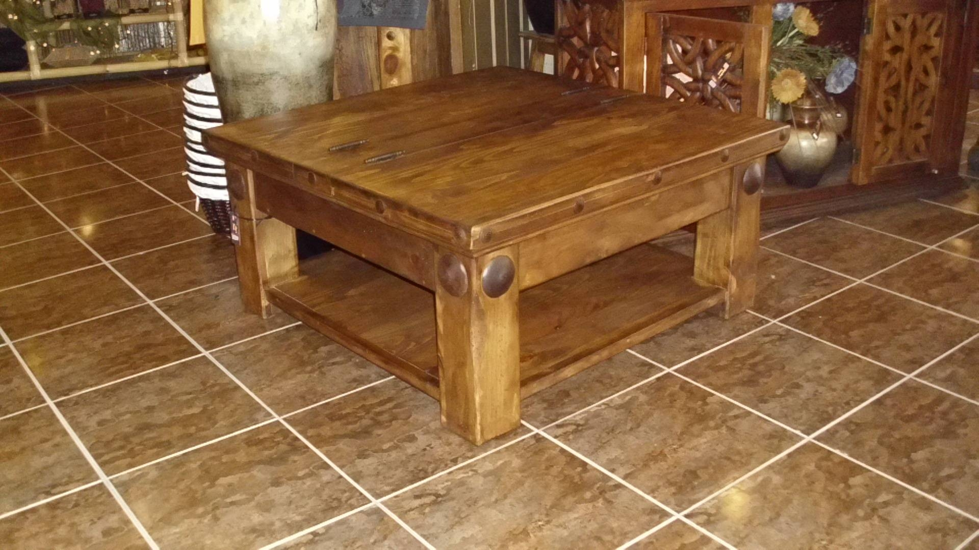 Mexican Square Solid Pine Coffee Table – Birdie's Nest Online Store in Square Pine Coffee Tables (Image 19 of 30)