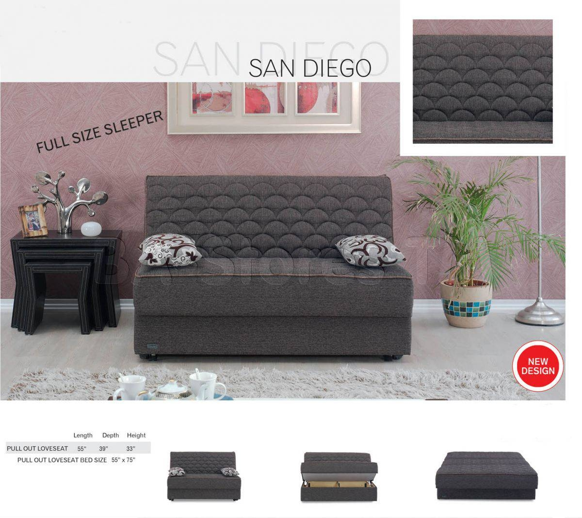 Meyan Furniture San Diego Armless Sleeper Sofa Bed | Sofa Beds San Pertaining To Sleeper Sofas San Diego (View 13 of 25)