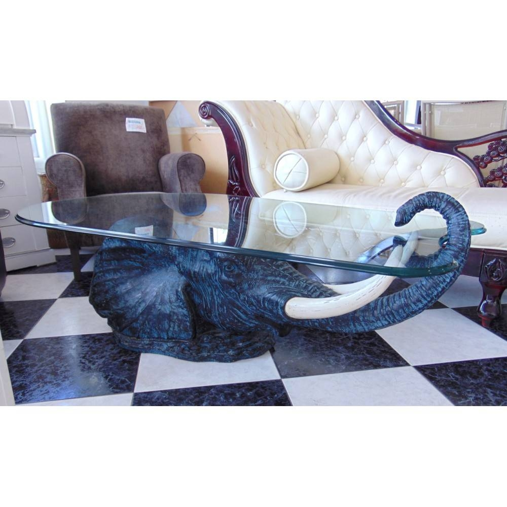"Michael's - 9376 - Fantastic High Quality ""elephant Glass Coffee for Elephant Glass Coffee Tables (Image 25 of 30)"
