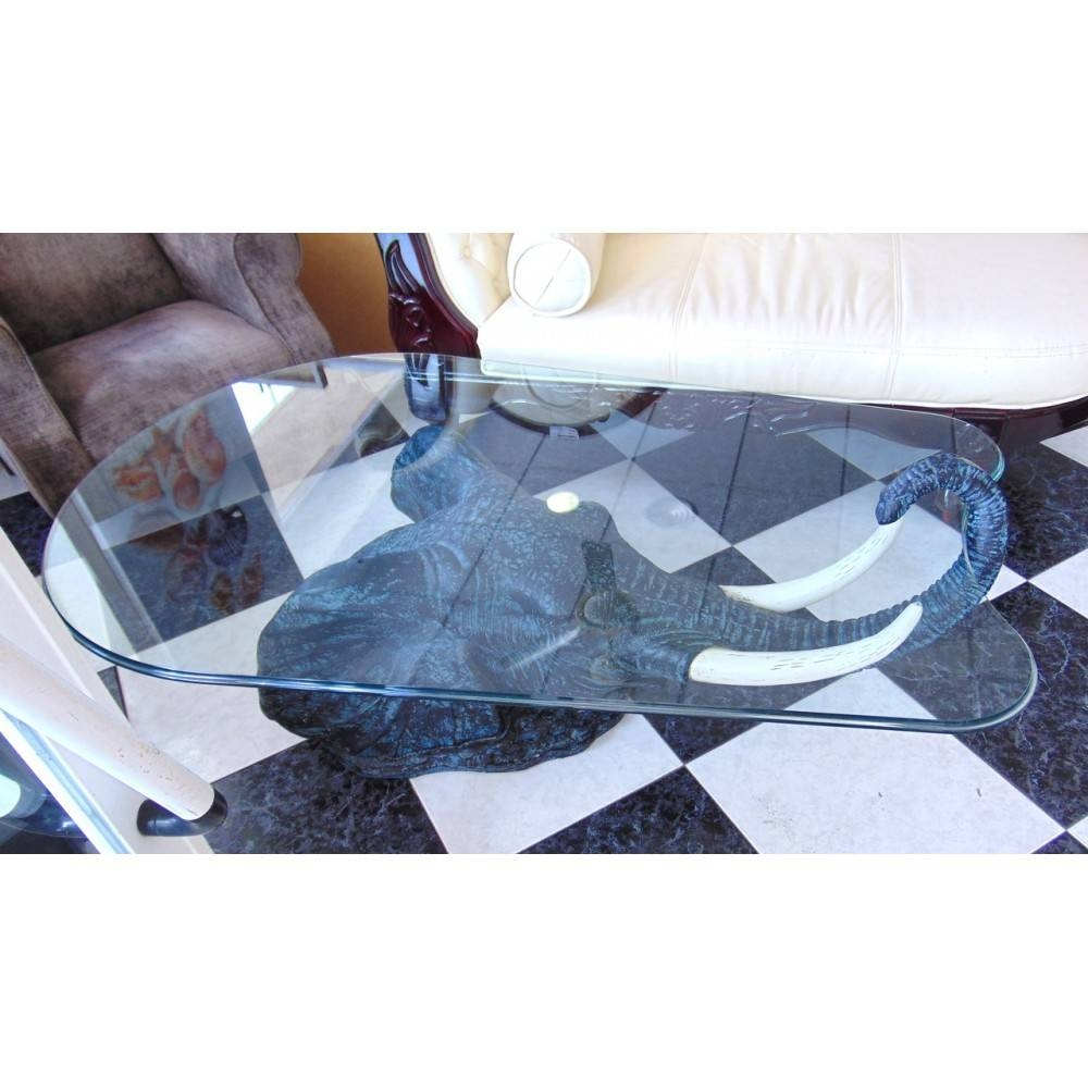 "Michael's - 9376 - Fantastic High Quality ""elephant Glass Coffee throughout Elephant Glass Coffee Tables (Image 26 of 30)"