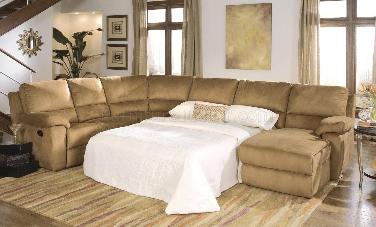 Micro Suede Contemporary Reclining Sectional Sofa with regard to Recliner Sectional Sofas (Image 23 of 30)