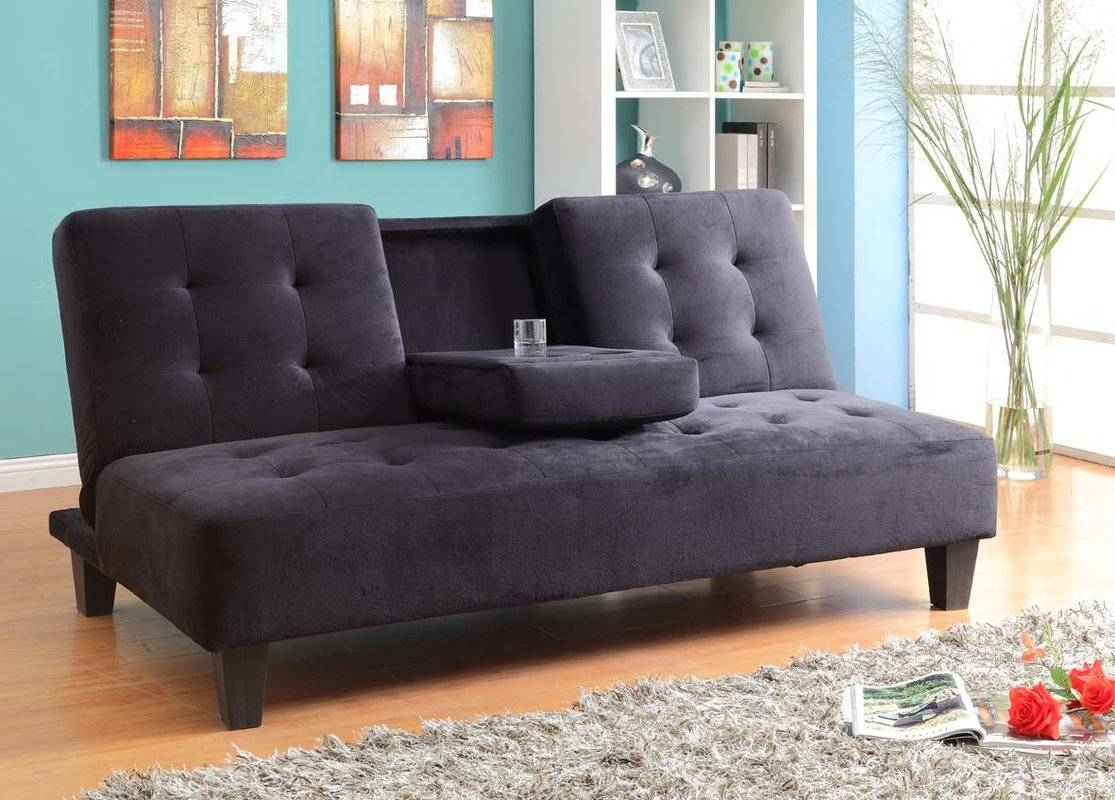 Microfiber Sofa Beds You'll Love | Wayfair in Twin Sofa Chairs (Image 8 of 30)