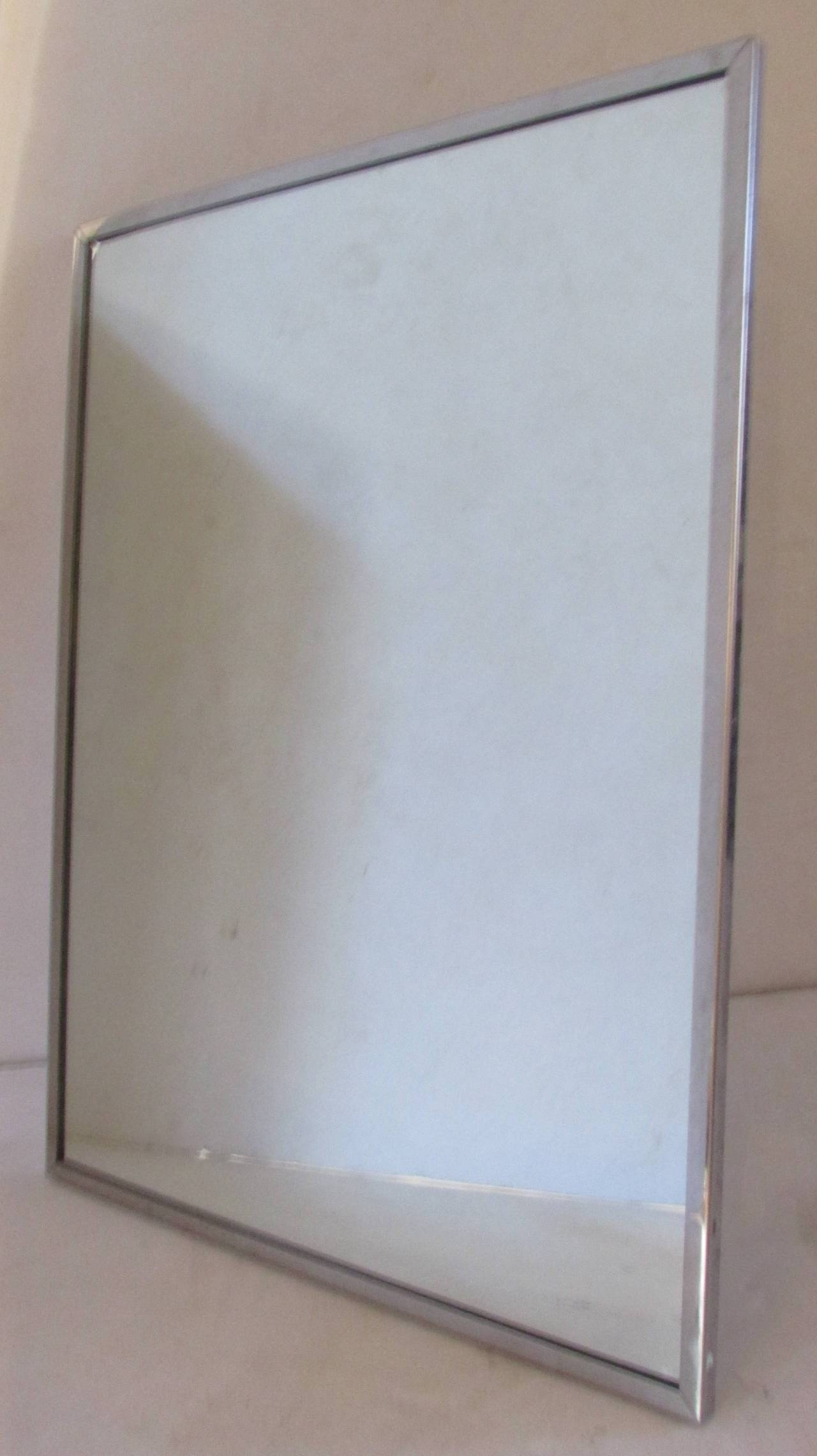 Mid-20Th Century Industrial Stainless Steel Framed Mirrors At 1Stdibs with Mirrors With Blue Frame (Image 15 of 25)