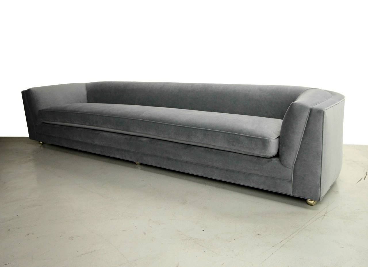 Mid Century 10Ft Long Low Sofa With Rounded Back At 1Stdibs for Rounded Sofa (Image 15 of 25)