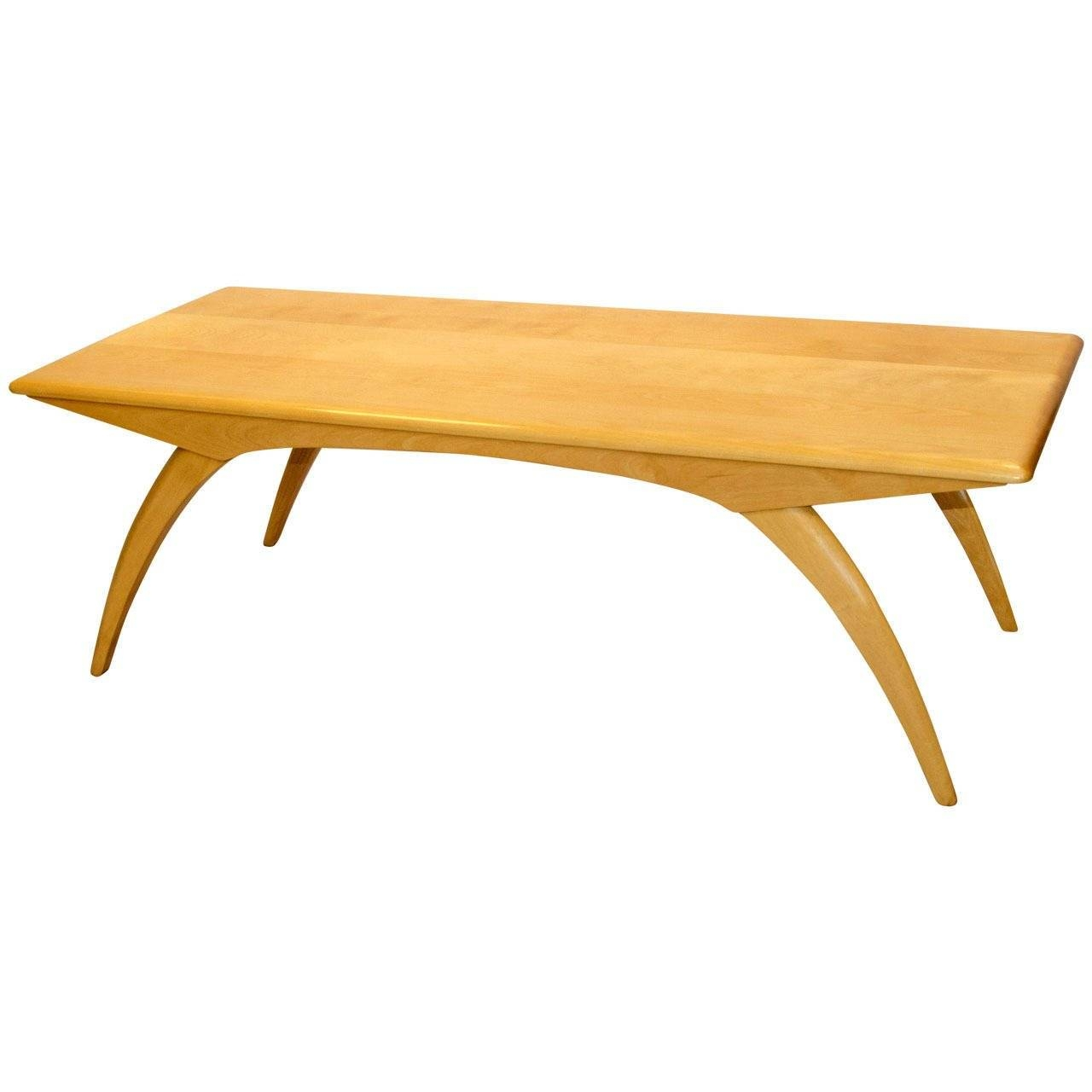 Mid Century Birch Coffee Table Model M795G, Heywood-Wakefield At regarding Birch Coffee Tables (Image 20 of 30)