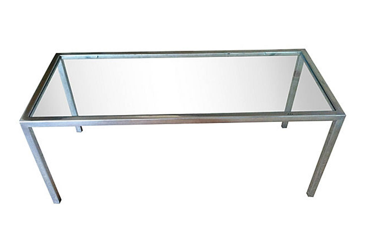 Mid Century Chrome And Smoked Glass Coffee Table | Omero Home within Glass Chrome Coffee Tables (Image 23 of 30)