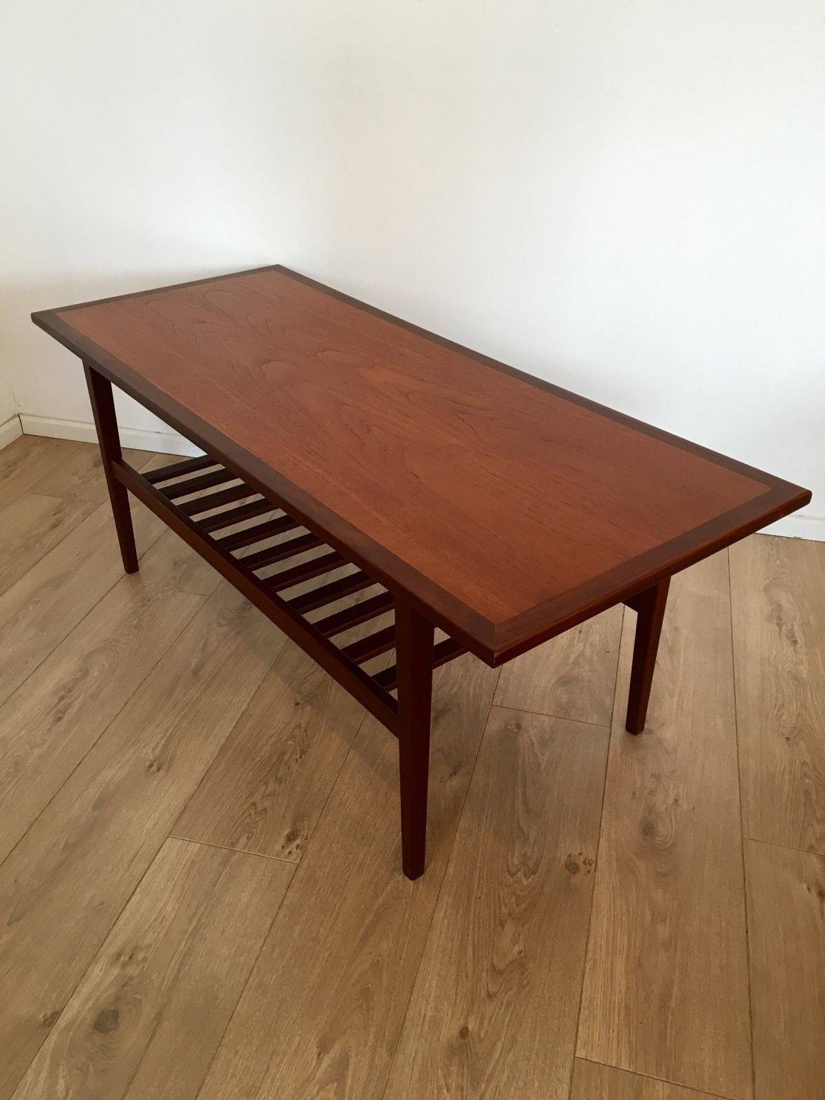 Mid Century Danish Teak 1970's Coffee Table With Magazine Rack for Coffee Tables With Magazine Rack (Image 13 of 30)