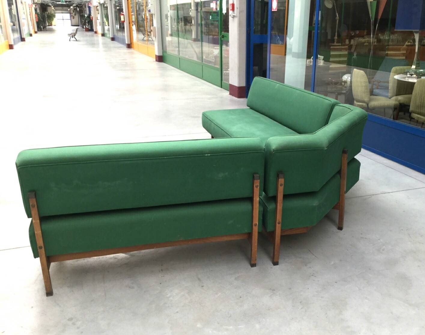 Mid-Century Italian Green Modular Corner Sofa, 1960S For Sale At pertaining to Modular Corner Sofas (Image 25 of 30)