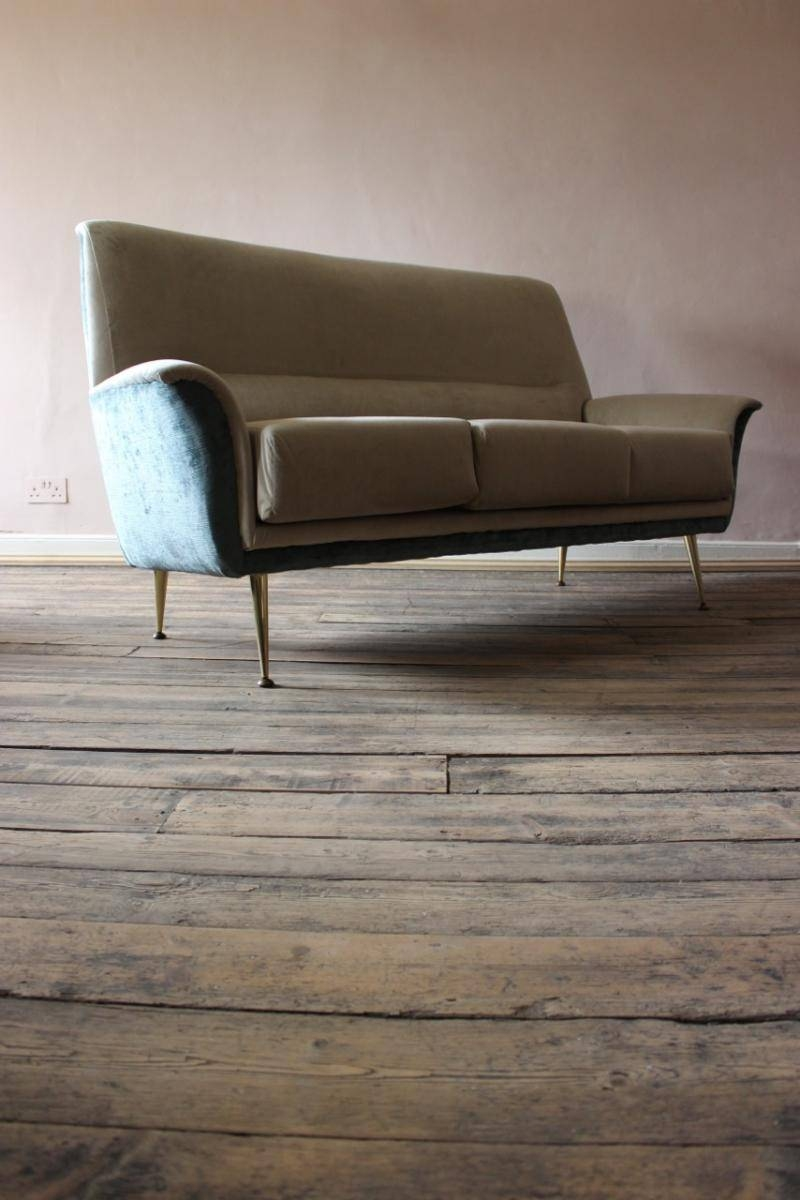 Mid-Century Italian Two-Tone Sofa, 1950S For Sale At Pamono in Two Tone Sofas (Image 16 of 30)