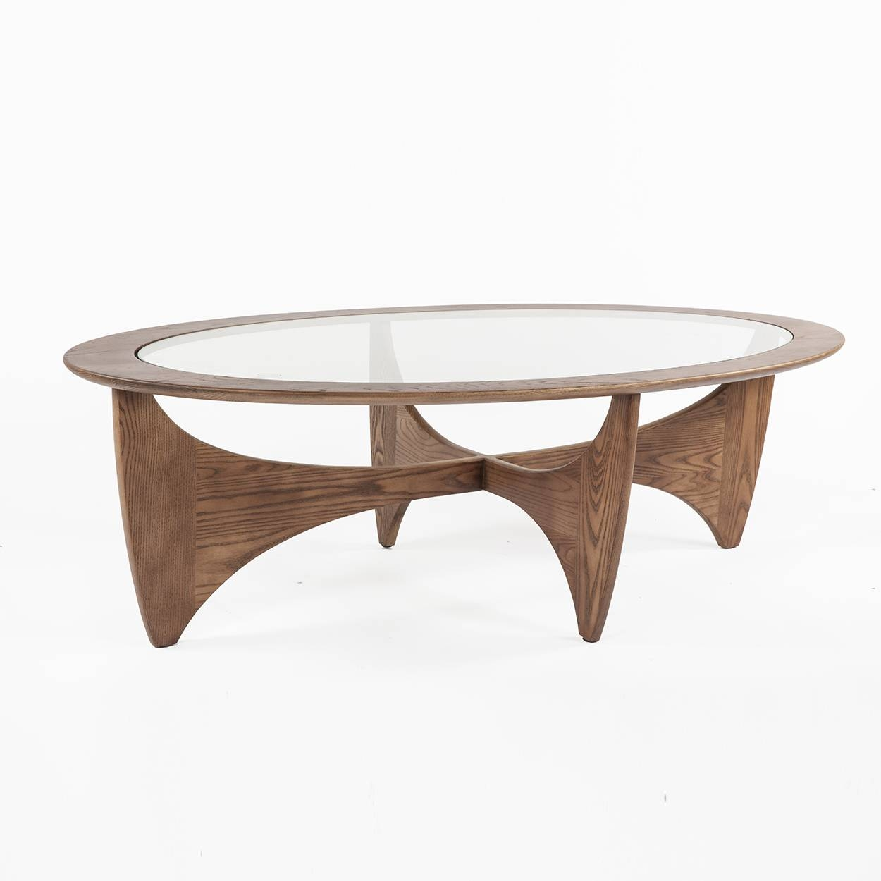 Mid Century Modern Coffee Tables And Cocktail Tables intended for Oval Walnut Coffee Tables (Image 17 of 30)