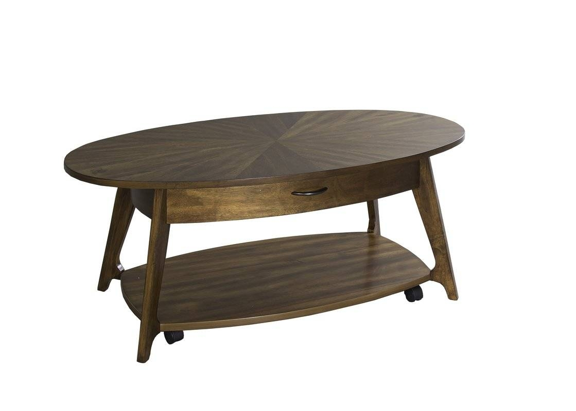Mid-Century Modern Coffee Tables You'll Love | Wayfair with Rounded Corner Coffee Tables (Image 16 of 30)