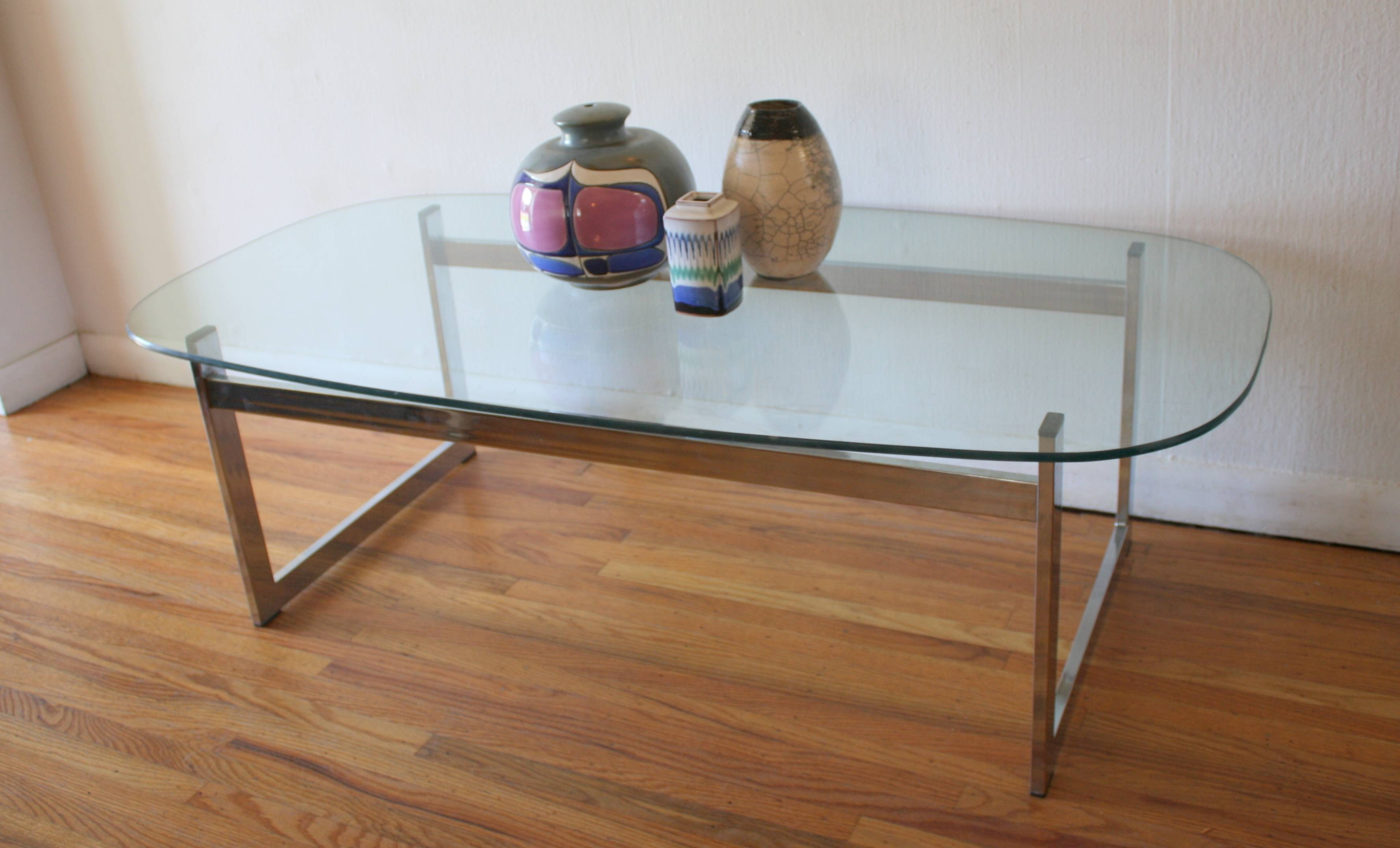 Mid Century Modern Glass And Chrome Coffee Tables | Picked Vintage in Wood Chrome Coffee Tables (Image 18 of 30)