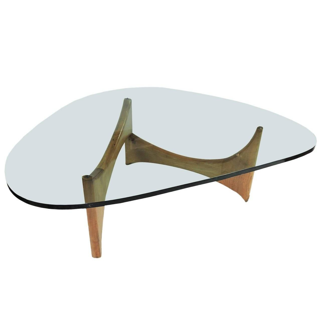 Mid-Century Modern Glass And Wood Coffee Table For Sale At 1Stdibs regarding Modern Glass Coffee Tables (Image 22 of 30)
