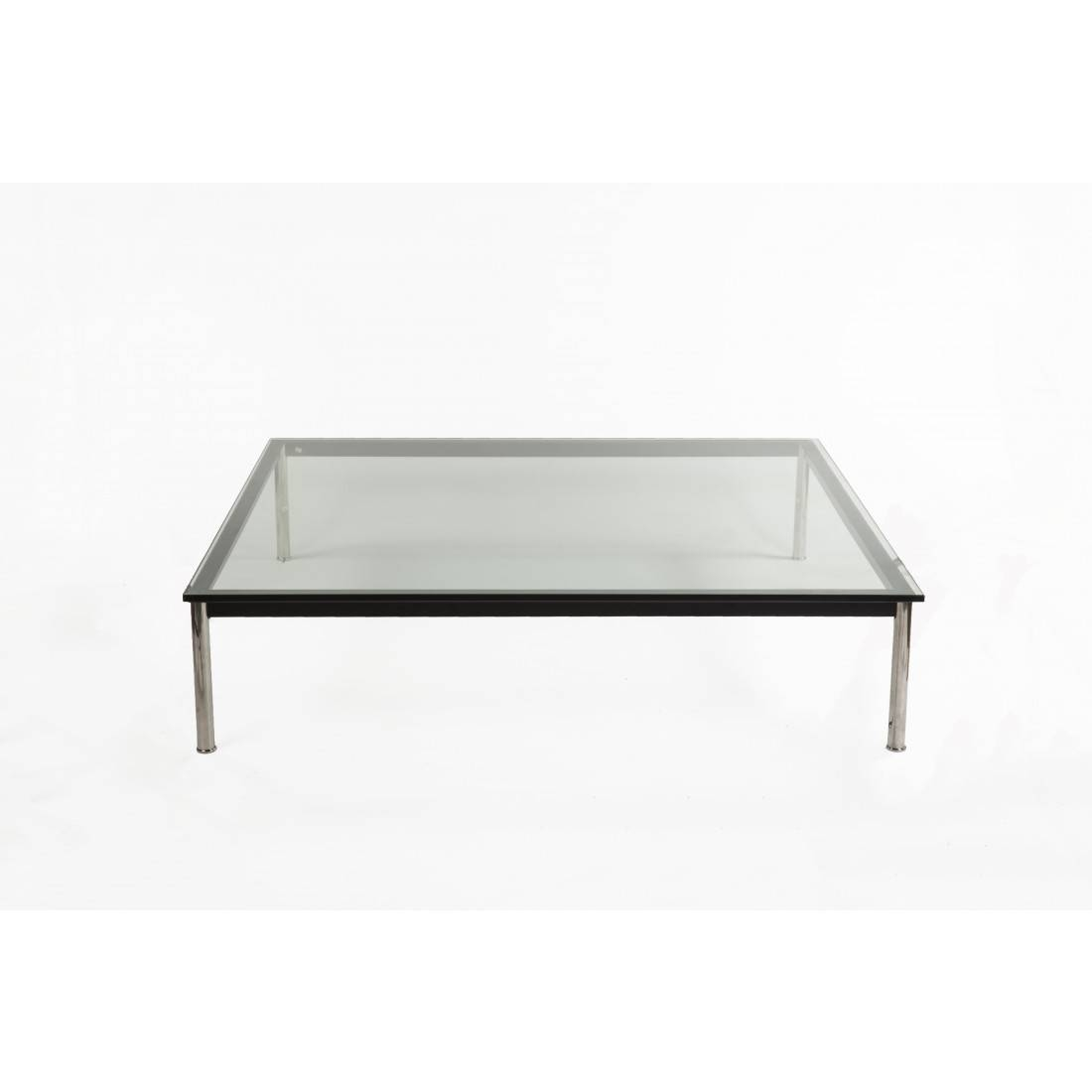 Mid Century Modern Reproduction Lc10 Square Low Coffee Within Large Low Coffee Tables (View 8 of 15)