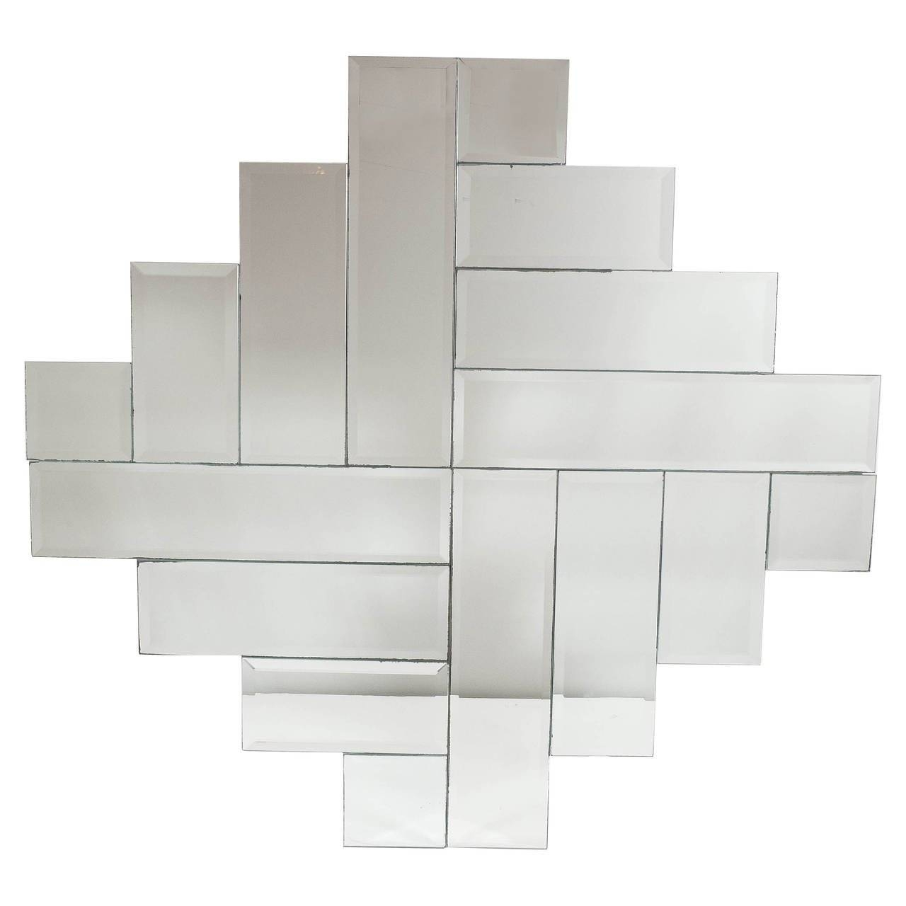 Mid-Century Modernist Art Deco Style Stepped Geometric Form intended for Art Deco Style Mirrors (Image 21 of 25)
