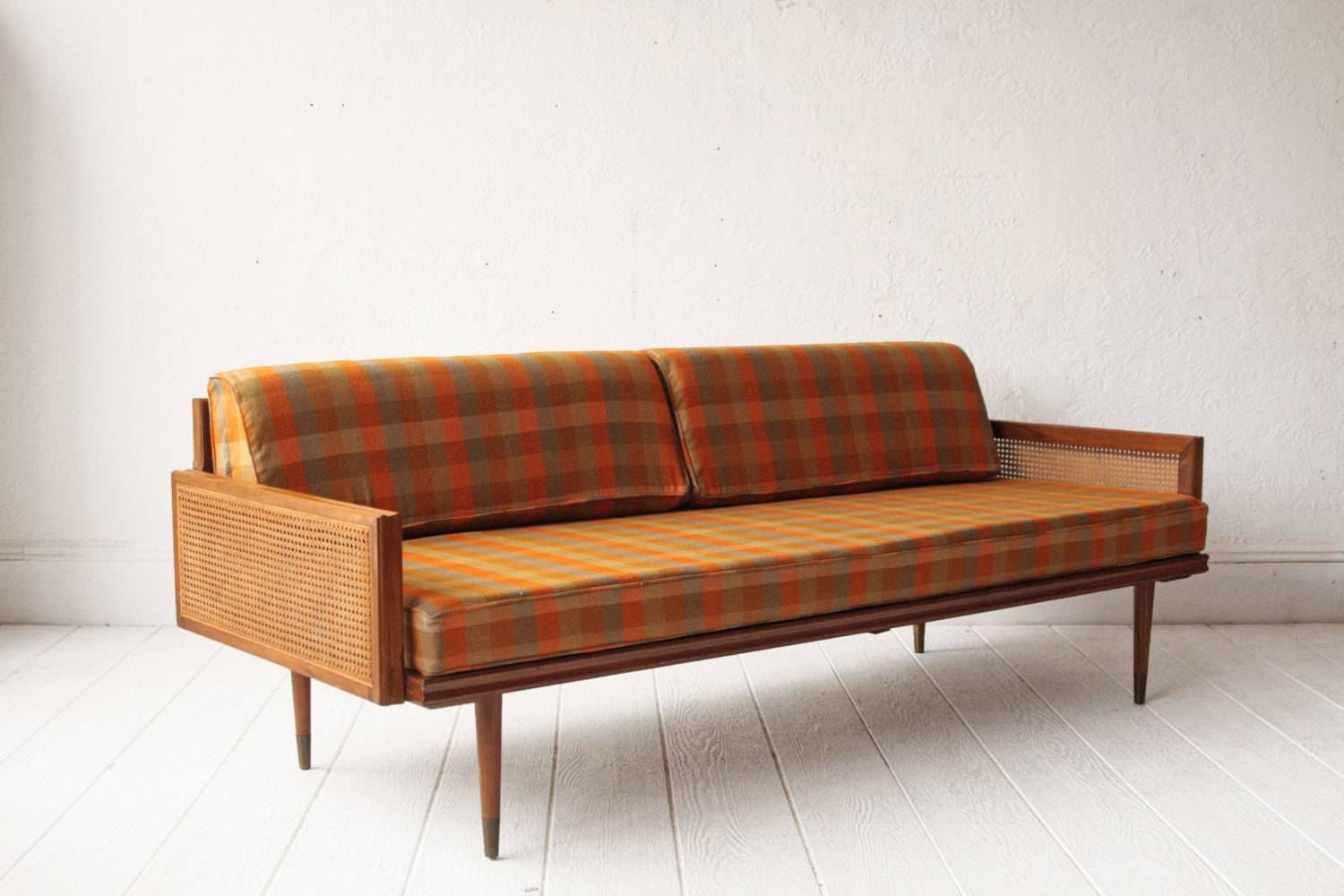 Mid Century Sofa Bed And 750, Mid Century Modern Sofa Bed | Danish within Etsy Sofas (Image 1 of 30)