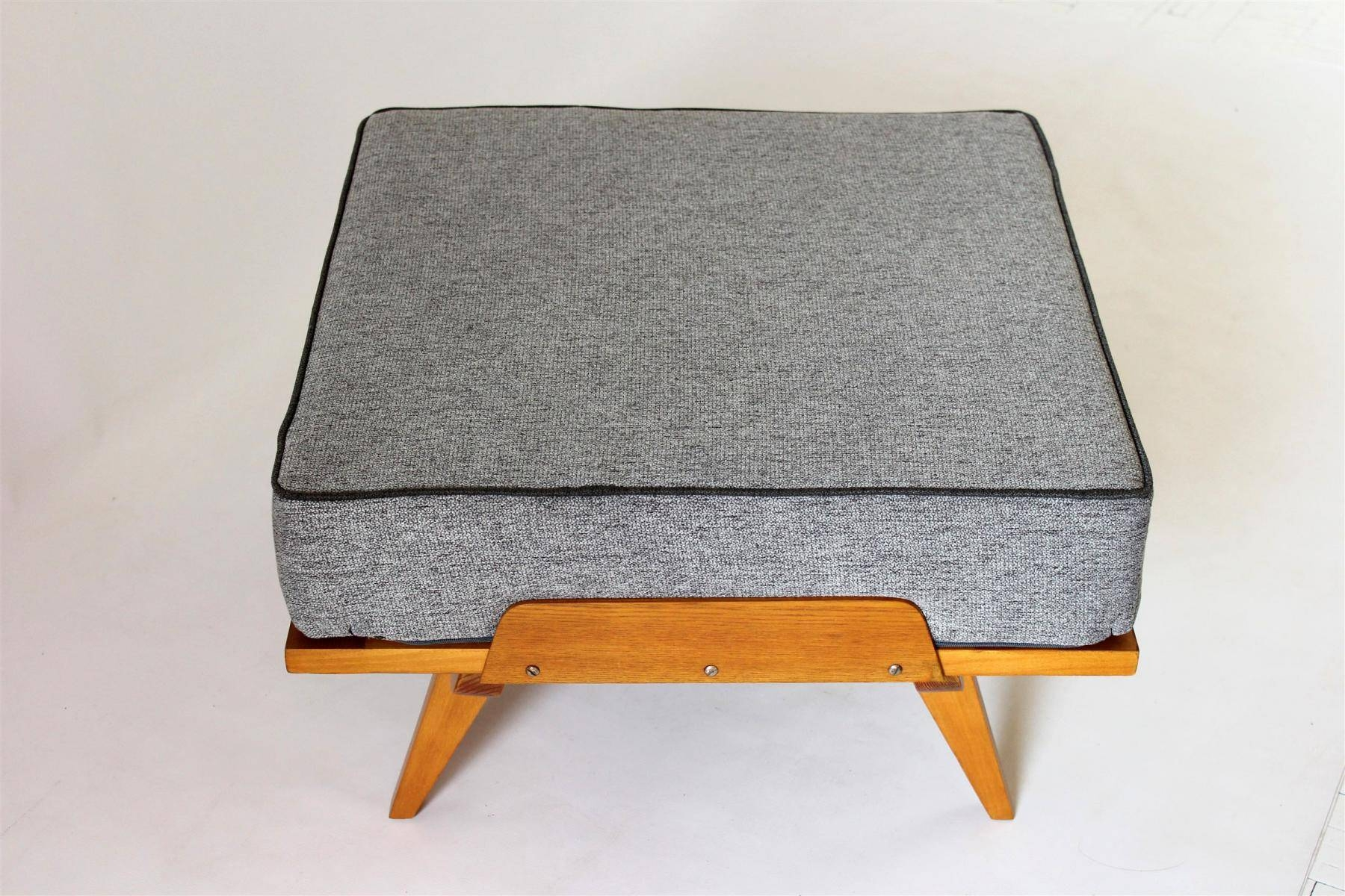 Mid-Century Sofa Bed With Pouf, 1960S For Sale At Pamono intended for Footstool Pouffe Sofa Folding Bed (Image 16 of 25)