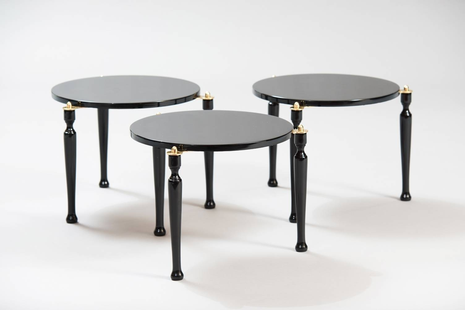 Mid Century Stackable Italian Side Tables, Set Of 3 For Sale At Pamono Inside Stackable Coffee Tables (View 17 of 30)