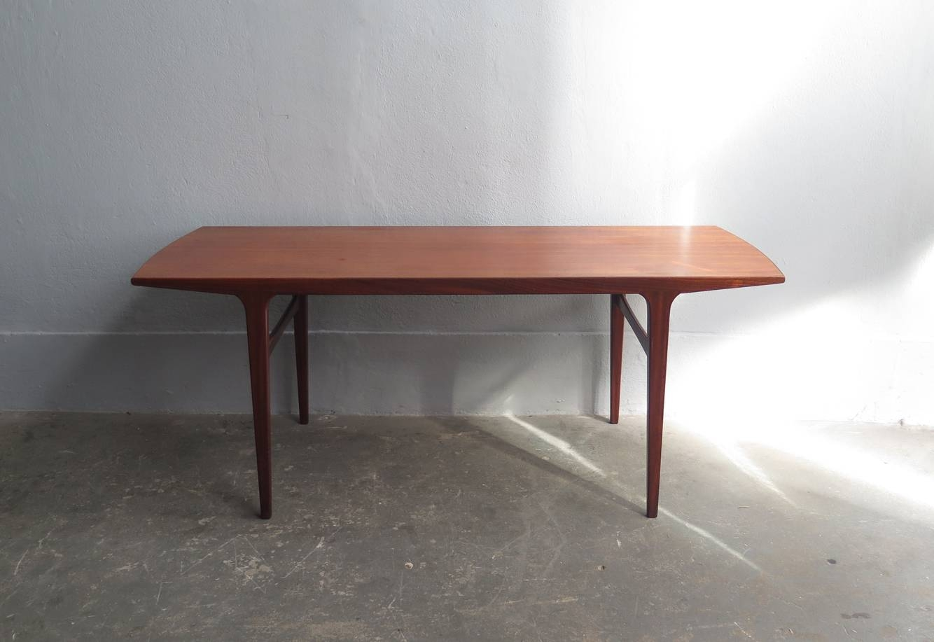 Mid-Century Teak Coffee Table With Rounded Edges For Sale At Pamono intended for Coffee Tables With Rounded Corners (Image 19 of 30)