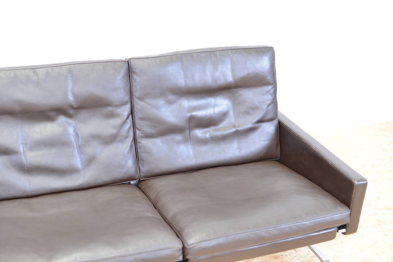 Mid-Century Two-Seater Leather Sofapoul Kjærholm For Fritz with 4 Seat Leather Sofas (Image 19 of 30)