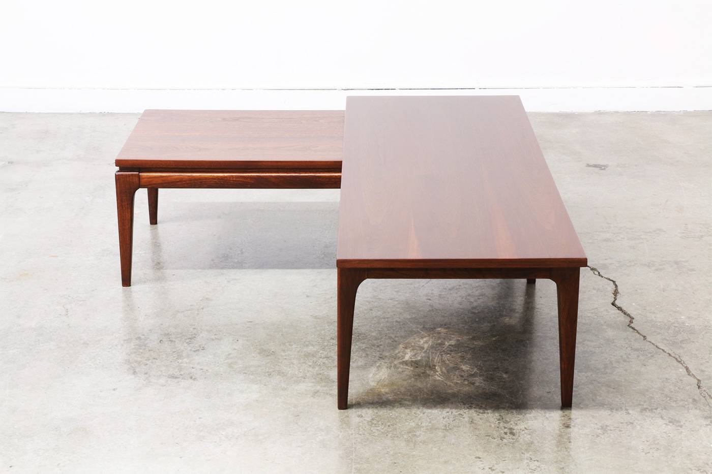 Awesome Mid Century Walnut U0026quot;lu0026quot; Shaped Adjustable Coffee Table | Vintage  Regarding L Shaped