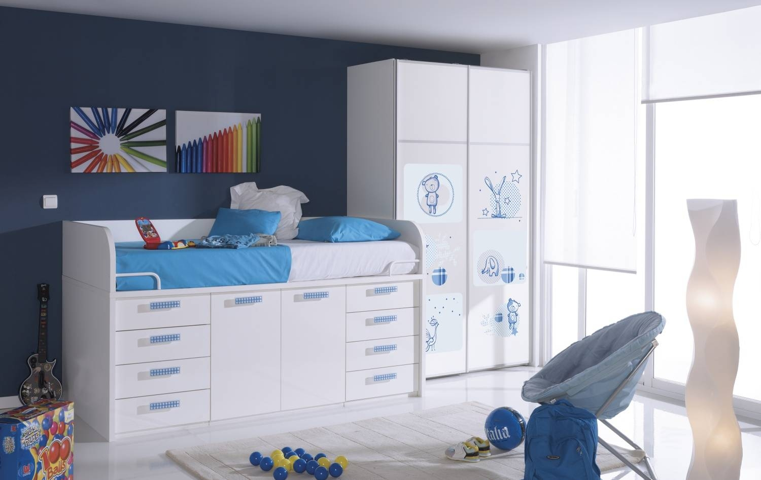 Mid Sleeper Cabin Bed | One Of The Best Storage Solutions For Kids pertaining to Kids Cabin Beds With Wardrobes (Image 11 of 15)