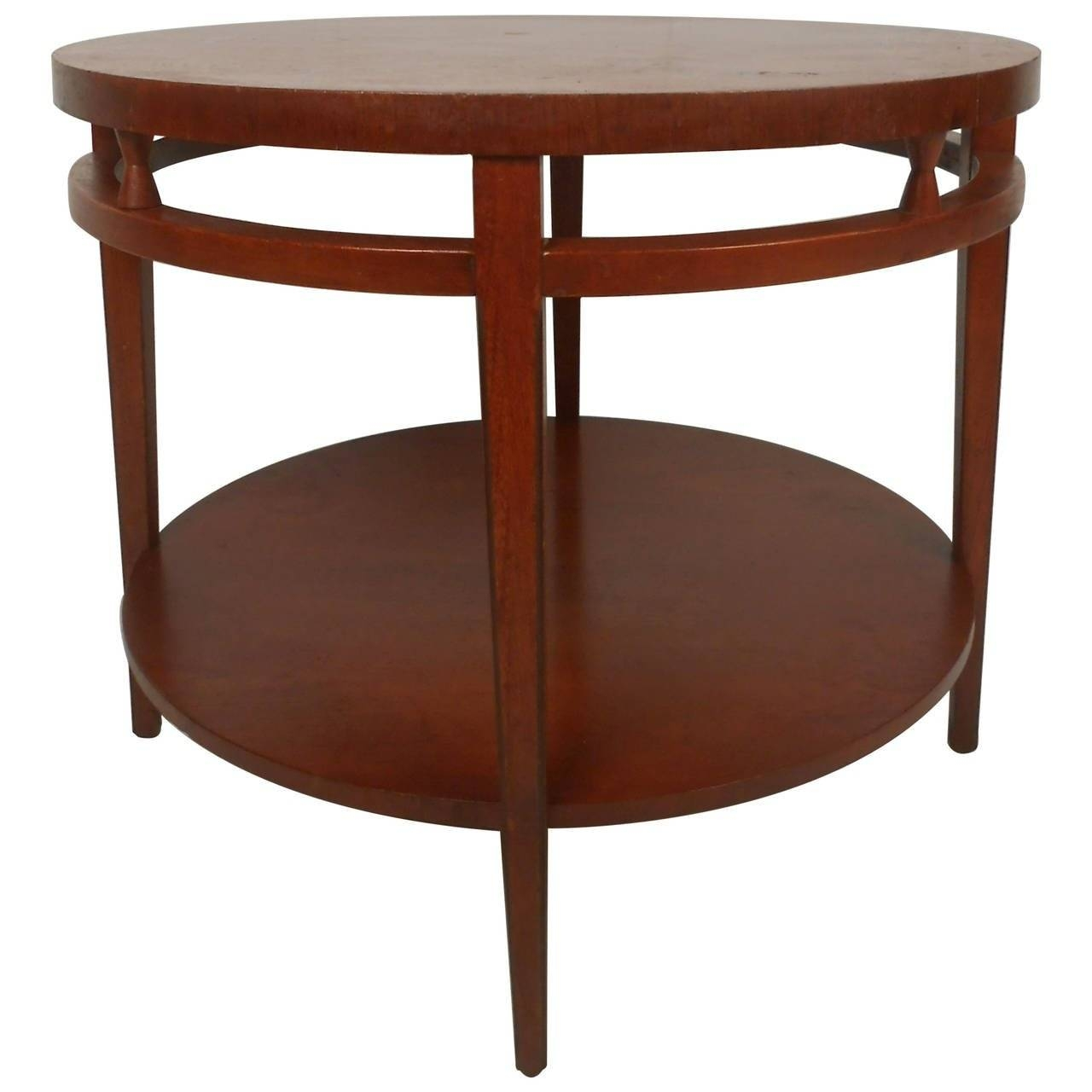 Midcentury Lane Style Two-Tier Round Coffee Table For Sale At 1Stdibs with regard to Circular Coffee Tables (Image 26 of 30)